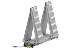 BM3010 mobile roller brake tester with ramps up - 3D illustration
