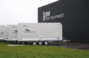 BM trailers with vehicle inspection lanes