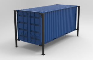 BM90 container lifting system - 3D illustration